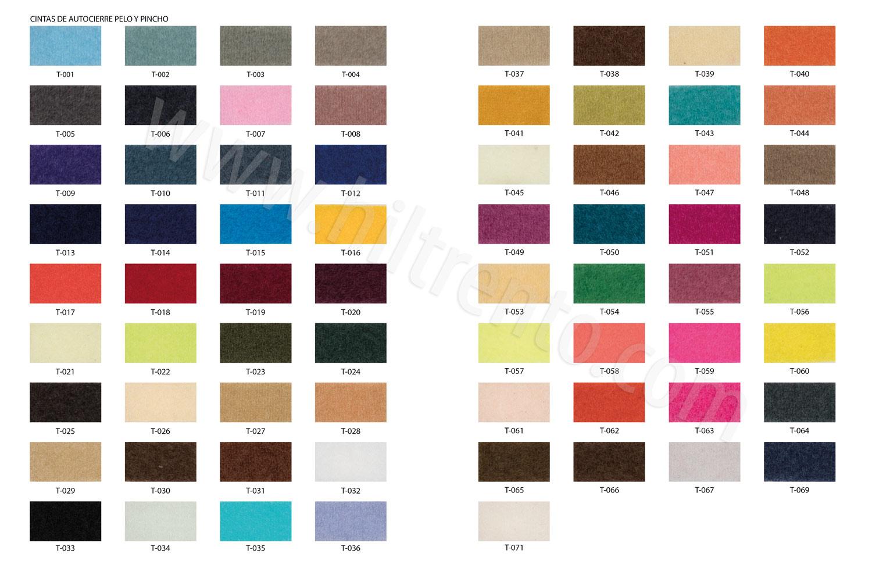 carta colores velcro t alcoy