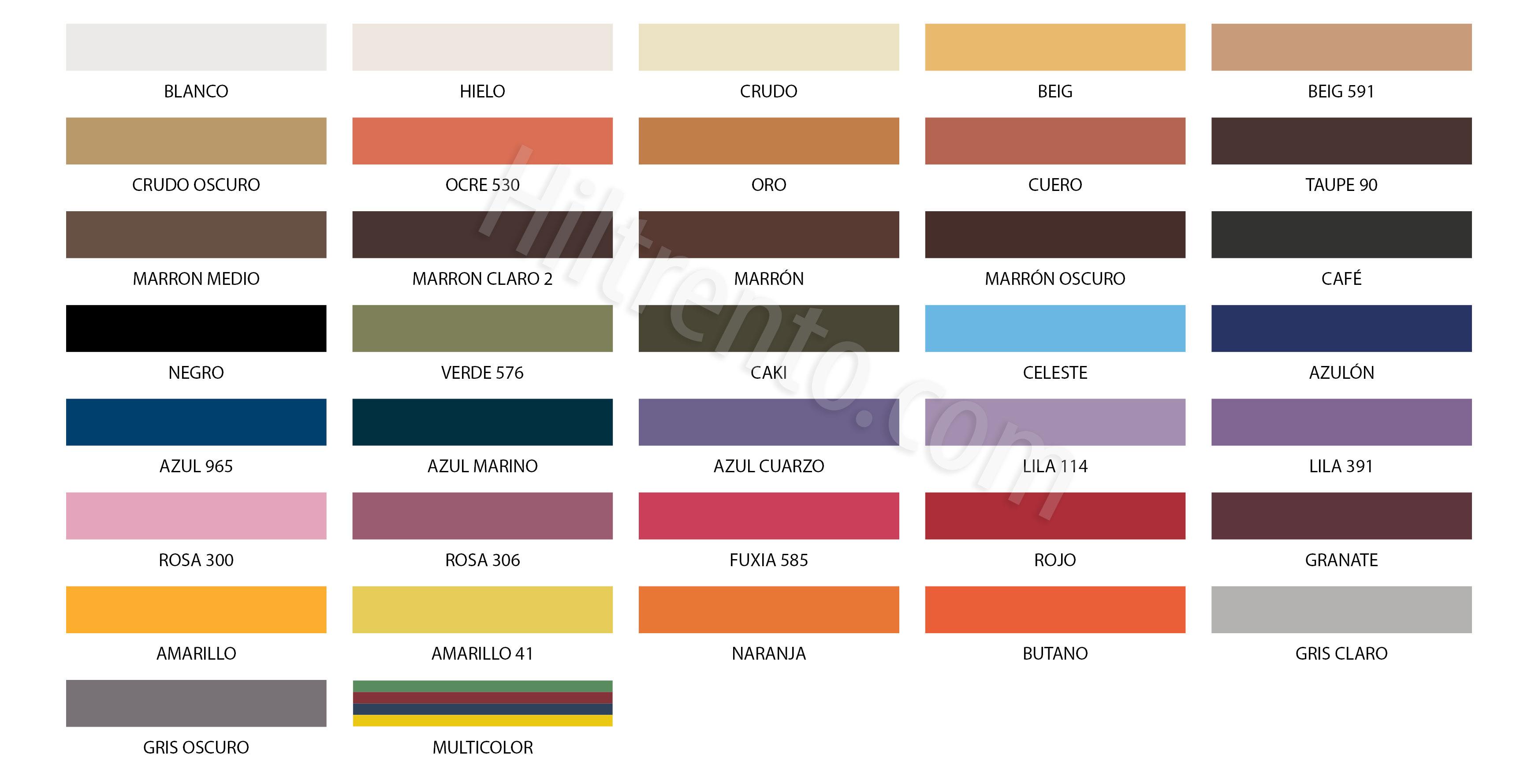 hilo encerado multicolor