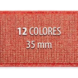 Elástico metalizado 35mm - Rollo 25 metros
