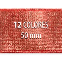 Elástico metalizado 50mm - Rollo 25 metros