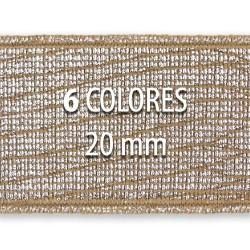 Elástico metalizado TEJUS 20mm - Rollo 25 metros