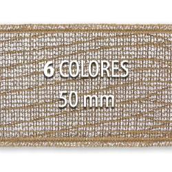 Elástico metalizado TEJUS 50mm - Rollo 25 metros