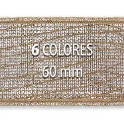 Elástico metalizado TEJUS 60mm - Rollo 25 metros