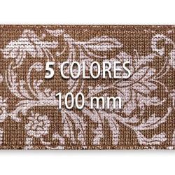 Elástico metalizado FLORES 100 mm - Rollo 25 metros