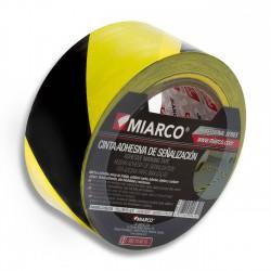 Cinta señalización seguridad Negro-Amarillo 50mm x 33m