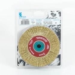 Carda circular acero latonado 175 mm