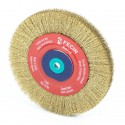 Carda circular acero latonado 200 mm