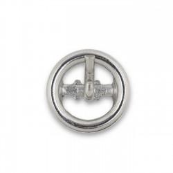 Hebilla redonda 9mm níquel ref.13354/9E