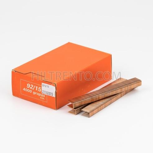 Grapas 92/15 cobreadas - Caja 4000 unidades