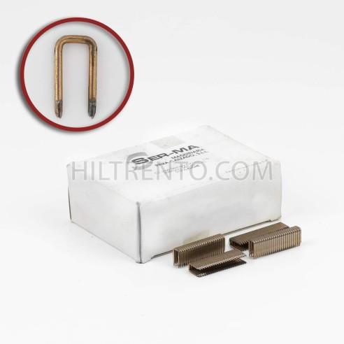Grapas 104/13 cobreadas - Caja 4000 unidades