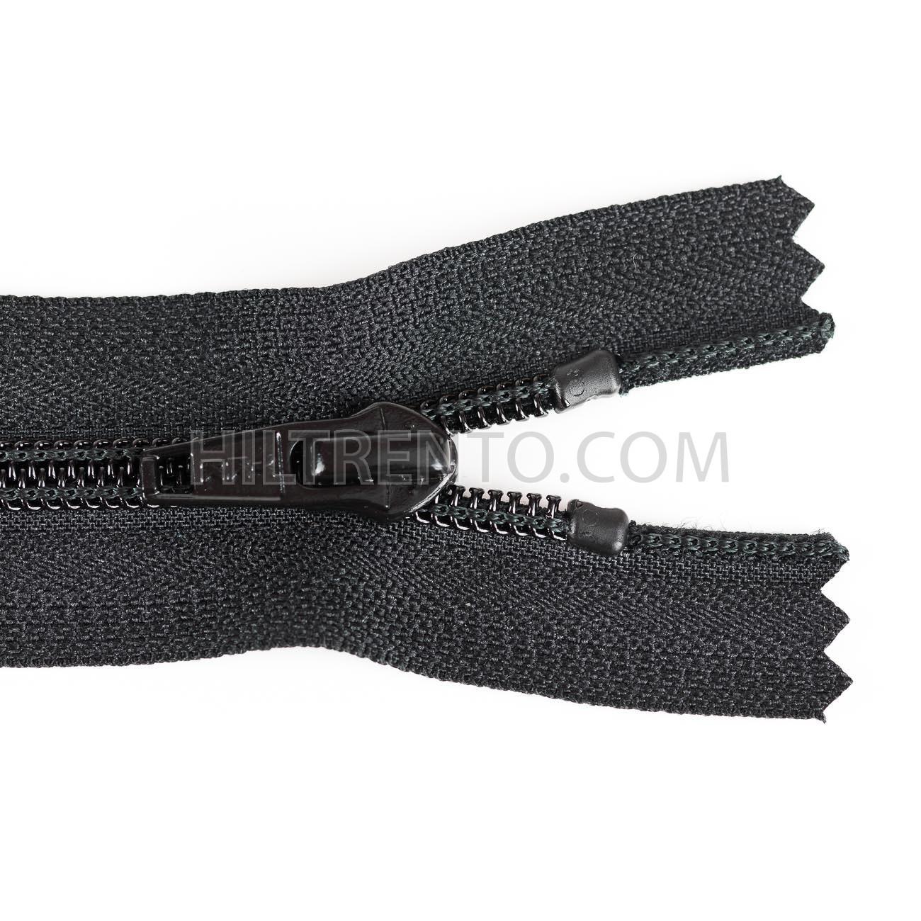 Negro zipworld 5/unidades cremallera pl/ástico//pl/ástico cremalleras con dientes de mittelgroben divisible 5/mm 30 cm