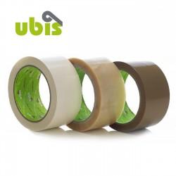 Precinto silencioso PVC 50mm x 132m Marrón, blanco, transp. - Caja 36 rollos