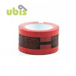 Precinto seguridad anti manipulación 50mm x 132m Rojo - Caja 36 uds