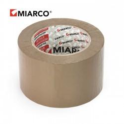 Precinto miarco 72mm x 132m Marrón - Caja 24 uds
