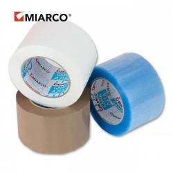 Precinto gama azul 72mm x 132m Marrón, blanco, transp. - Caja 24 uds