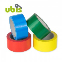 Precinto silencioso PVC 50mm x 66m Colores - Caja 36 uds