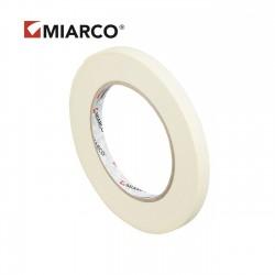 Cinta adhesiva krepp MIARCO 9mm x 90 metros - Caja 198 uds