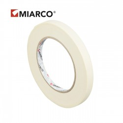 Cinta adhesiva krepp MIARCO 12mm x 90 metros - Caja 150 uds