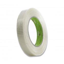Cinta reforzada fibra vidrio 25mm x 50metros