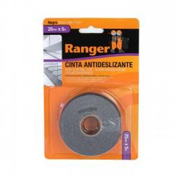 Cinta adhesiva antideslizante negra 25mm x 5 metros - Caja 24 uds