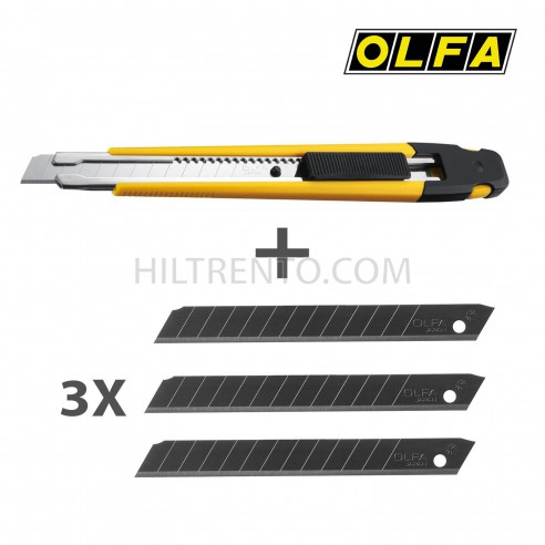 Cutter + 3 cuchillas olfa A-1/3BB 9mm