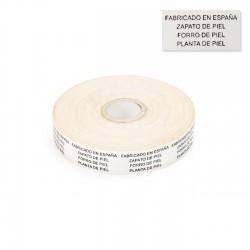 """Etiquetas textiles""""Fabricado en España"""" 20x40 mm - Rollo 1000 unidades"""