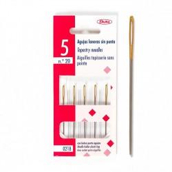 Agujas tapiceras (laneras) sin punta Nº20 - Pack 5 uds