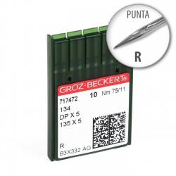 Aguja Groz-Beckert 134 75/11 punta R - Pack 10 uds