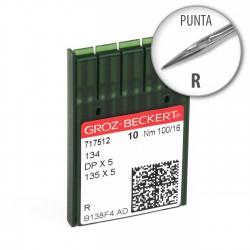 Aguja Groz-Beckert 134 100/16 punta R - Pack 10 uds