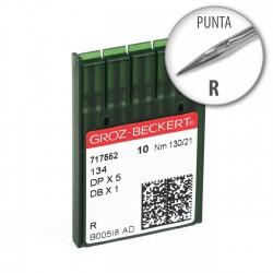 Aguja Groz-Beckert 134 130/21 Punta R - Pack 10 uds