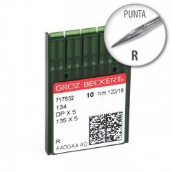 Aguja Groz-Beckert 134 120/19 punta R - Pack 10 uds