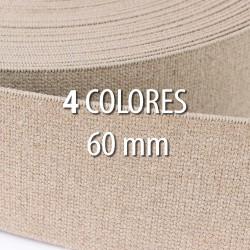 Elástico lino 60 mm - Rollo 25 metros