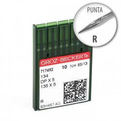 Agujas Groz-Beckert 134 80/12 punta R - Pack 10 uds