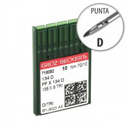 Aguja Groz-Beckert 134 75/10 Punta D - Pack 10 uds