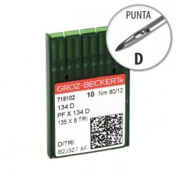 Aguja Groz-Beckert 134 80/12 Punta D - Pack 10 uds