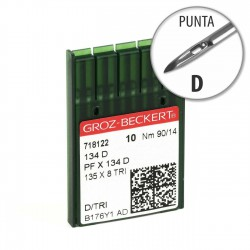 Aguja Groz-Beckert 134 90/14 Punta D - Pack 10 uds