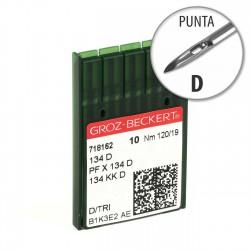 Aguja Groz-Beckert 134 120/19 Punta D - Pack 10 uds