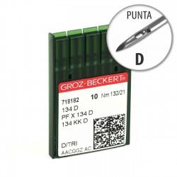 Aguja Groz-Beckert 134 130/21 Punta D - Pack 10 uds