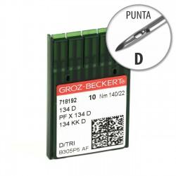 Aguja Groz-Beckert 134 140/22 Punta D - Pack 10 uds
