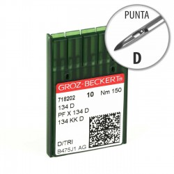 Aguja Groz-Beckert 134 150 Punta D - Pack 10 uds