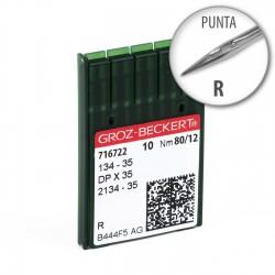 Aguja Groz-Beckert 134-35 80/12 Punta D - Pack 10 uds