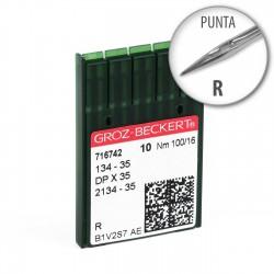 Aguja Groz-Beckert 134-35 100/16 Punta R - Pack 10 uds