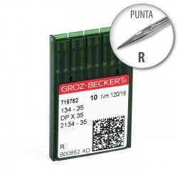 Aguja Groz-Beckert 134-35 120/19 Punta R - Pack 10 uds