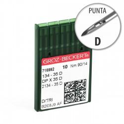 Aguja Groz-Beckert 134-35 90/14 Punta D - Pack 10 uds