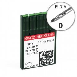 Aguja Groz-Beckert 134-35 110/18 Punta D - Pack 10 uds