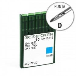 Aguja Groz-Beckert 134-35 120/19 Punta D - Pack 10 uds
