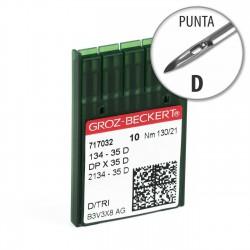 Aguja Groz-Beckert 134-35 130/21 Punta D - Pack 10 uds