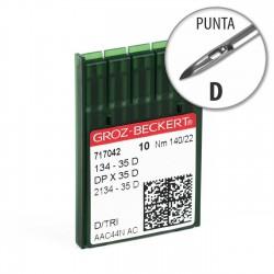 Aguja Groz-Beckert 134-35 140/22 Punta D - Pack 10 uds