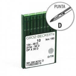Aguja Groz-Beckert 134-35 150 Punta D - Pack 10 uds