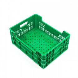 Cubeta apilable plástico verde 500x380x195 mm Ref.SC